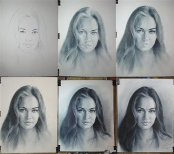 Gradual work on a portrait photo